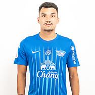 THAILAND - JUNE 11: Kritsada Kaman #5 of Chon Buri FC on June 11, 2019.<br /> .<br /> .<br /> .<br /> (Photo by: Naratip Golf Srisupab/SEALs Sports Images/MB Media Solutions)