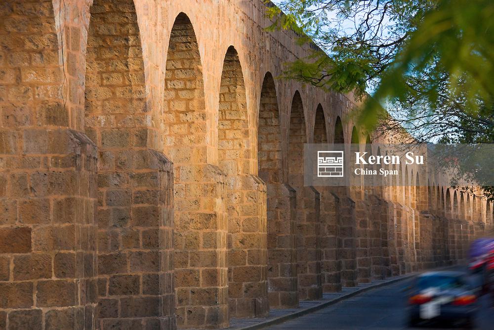Section of Limestone Aqueduct, Morelia, Mexico