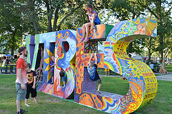 The Vibe Tribe at The Gathering of the Vibes 26 July 2013. Seaside Park, Bridgeport Connecticut