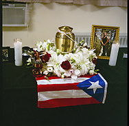 Memorial service for Daniel Rivera, 41, who was discovered in a shallow grave in a Brooklyn backyard. <br />  Rivera had recently gotten a job as a super in a Himrod Street building and police hypothesize that he might have been strangled by another Himrod Street super who later buried him in the nearby yard.