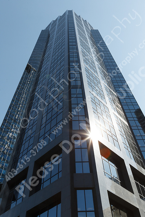 Commercial stock photography of Devon Place (formerly Canterra Tower) in Calgary. Images designed to highlight the stonework of the interior and exterior floors and walls of the building. The granite and other stone was provided by LUNDHS AS of Norway.<br /> <br /> ©2012, Sean Phillips<br /> http://www.RiverwoodPhotography.com
