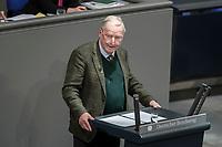 08 NOV 2018, BERLIN/GERMANY:<br /> Alexander Gauland, MdB, AfD Fraktionsvorsitzender, haelt eine Rede, Bundestagsdebatte zum sog. Global Compact fuer Migration, Plenum, Deutscher Bundestag<br /> IMAGE: 20181108-01-033<br /> KEYWORDS: Sitzung