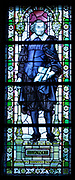 Joost van den Vondel 1587 – 1679) Dutch writer and playwright. considered the most prominent Dutch poet and playwright of the 17th century. depicted in a stained glass window at the Rijks Museum in Amsterdam, Holland.