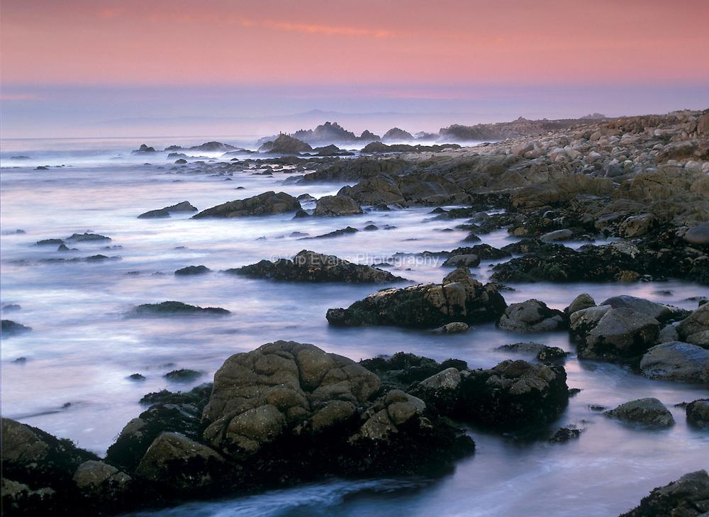 Waves Crashing Over Rocks, Pebble Beach, CA
