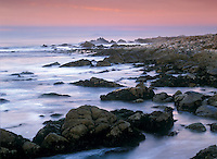 Waves Crashing Over Rocks, Pebble Beach, CA