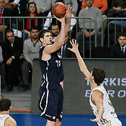 Anadolu Efes's Stanko Barac (C) during their Turkish Airlines Euroleague Basketball Group C Game 10 match Anadolu Efes between Real Madrid at Sinan Erdem Arena in Istanbul, Turkey, Thursday, December 22, 2011. Photo by TURKPIX