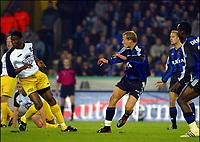 Fotball<br /> Belgia 2003/2004<br /> 18.10.2003<br /> Brugge / Brügge v Westerlo<br /> Foto: Digitalsport<br /> Norway Only<br /> <br /> RUNE LANGE scorer for Brugge