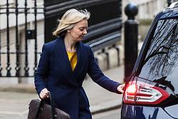 London, November 29 2017. Chief Secretary to the Treasury Elizabeth Truss is seen leaving Downing Street. © Paul Davey