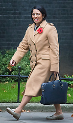 © Licensed to London News Pictures. 01/11/2016. London, UK. Secretary of State for International Development Priti Patel arrives on Downing Street for the weekly Cabinet meeting. Photo credit: Rob Pinney/LNP