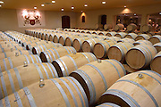barrel aging cellar white wine chateau fieuzal pessac leognan graves bordeaux france