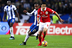 December 1, 2017 - Porto, Porto, Portugal - Benfica's Mexican forward Raul Jimenez (L) in action with Porto's Portuguese defender Ricardo Pereira (R) during the Premier League 2016/17 match between FC Porto and SL Benfica, at Dragao Stadium in Porto on December 1, 2017. (Credit Image: © Dpi/NurPhoto via ZUMA Press)