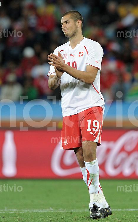FUSSBALL WM 2010   VORRUNDE    Gruppe H   16.06.2010 Spanien - Schweiz Eren DERDIYOK (Schweiz)