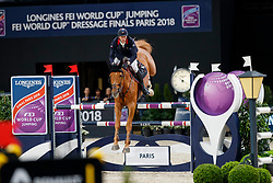 STAUT Kevin (FRA), Silver Deux de Virton HDC<br /> Paris - FEI World Cup Finals 2018<br /> Longines FEI World Cup Jumping Final II<br /> www.sportfotos-lafrentz.de/Stefan Lafrentz<br /> 13. April 2018