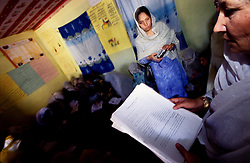 MAKHFI, 30 July 2005 ..Vocational Training Course for women... ..The VTC aim is to make women aware of their onwn status as Mother and as Woman, by giving lessons on  family planning, reproductive health and post-natal issues.....According to United Nations Population Fund, Afghanistan has among the world?s highest rates of maternal mortality, and Badakhshan has the highest rates ever recorded anywhere in the world, with one mother dying in every 15 births. Underage marriage is one of the primary causes of maternal mortality.....The VTC is funded by UNFPA and implemented by IBNSINA.