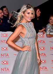 Mollie King attending the National Television Awards 2018 held at the O2 Arena, London. PRESS ASSOCIATION Photo. Picture date: Tuesday January 23, 2018. See PA story SHOWBIZ NTAs. Photo credit should read: Matt Crossick/PA Wire