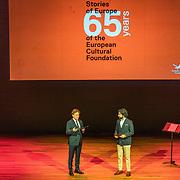 NLD/Amsterdam/20191002 - Laurentien bij ECF Princess Margriet Award for Culture, Directeur Andre Wilkens