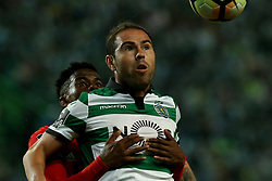 April 22, 2017 - Lisbon, Lisbon, Portugal - Sportings midfielder Bruno Cesar from Brazil (F) and Benficas defender Nelson Semedo from Portugal (B) during Premier League 2016/17 match between Sporting CP and SL Benfica, at Alvalade Stadium in Lisbon on April 22, 2017. (Credit Image: © Dpi/NurPhoto via ZUMA Press)
