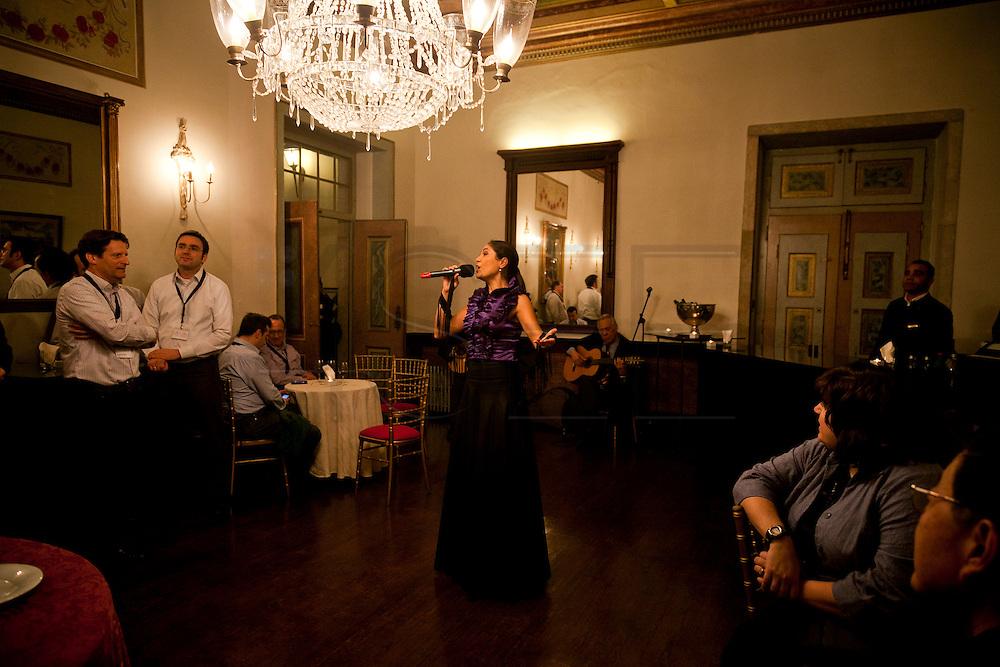 Dinner at the Convento de Sao Vicente de Fora in Lisbon of the Pharma Global group.