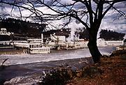 CS03450. Willamette River in Oregon City, paper mill, mid 1950s.