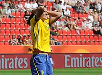 Fotball<br /> VM kvinner 2011 Tyskland<br /> 28.06.2011<br /> Sverige v Colombia<br /> Foto: Witters/Digitalsport<br /> NORWAY ONLY<br /> <br /> Jessica Landström (Schweden)<br /> Frauenfussball WM 2011 in Deutschland, Kolumbien - Schweden 0:1