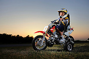 Kyle Bratcher suffered cancer and lost control of his body from the neck down.  Tony Baustert built this remote controlled dirt bike so Kyle could still ride.
