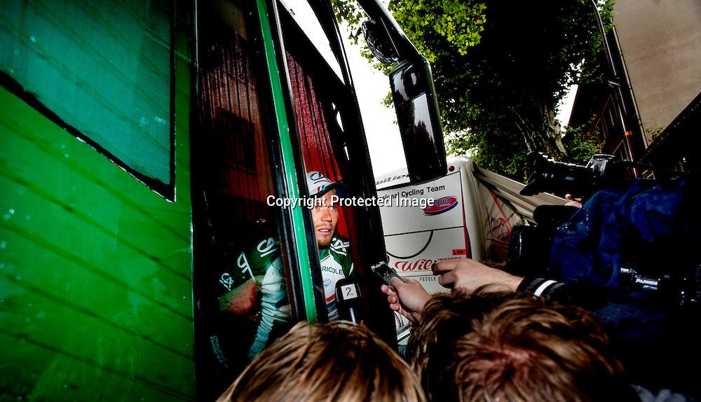 Toulouse, 20080712. Tour de France. Thor Hushovd etter den 8.etappen i Tour de France...Foto: Daniel Sannum Lauten/Dagbladet