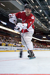 Frederick Corbeil scores fifth goal for Canada at IIHF In-Line Hockey World Championships Top Division Bronze medal game between National teams of Canada and Sweden on July 4, 2010, in Karlstad, Sweden. (Photo by Matic Klansek Velej / Sportida)
