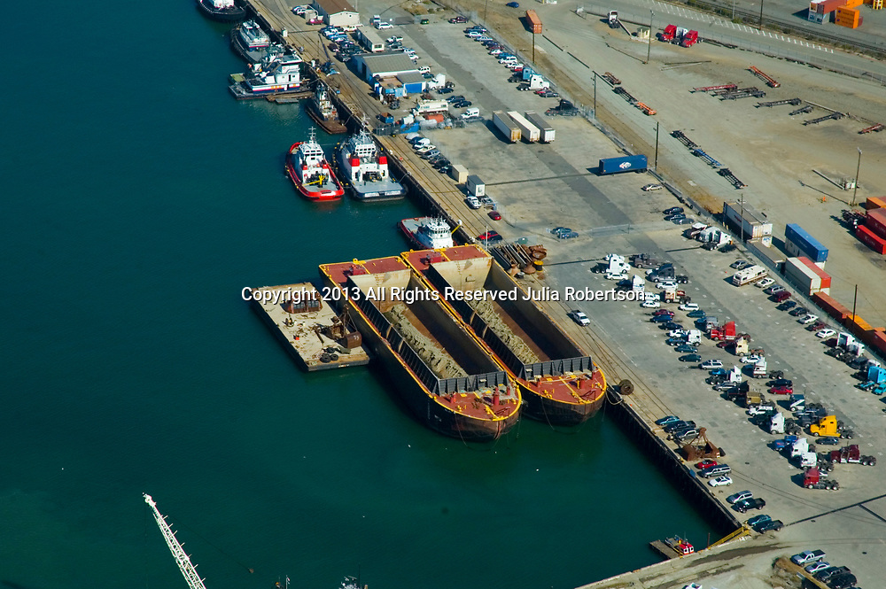 aerial view of the port of oakland, california
