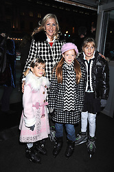 TANIA BRYER and her daughters FRANCESCA and NATASHA and ? at the opening of the Somerset House ice Rink for 2008 sponsored by Tiffany & Co held at Somerset House, The Strand, London on 18th November 2008.