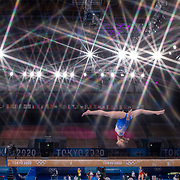 TOKYO, JAPAN - JULY 22: Reigning Olympic champion Sanne Wevers of The Netherlands performing on the balance beam during the Artistic Gymnastics Podium Training at the Ariake Gymnastics Centre in preparation for the Tokyo 2020 Olympic Games on July 22, 2021 in Tokyo, Japan. (Photo by Tim Clayton/Corbis via Getty Images)<br /> <br /> (Note to editors: A special effects starburst filter was used in the creation of this image)