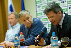 Gian-Franco Kasper, president of FIS and Stanislav Valant, president  of SZS at press conference during 1st day of FIS Ski Flying World Championships Planica 2010, on March 18, 2010, Planica, Slovenia.  (Photo by Vid Ponikvar / Sportida)