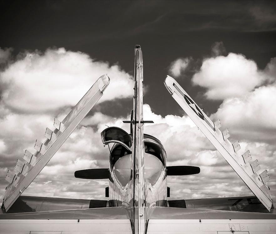 Navy A1-E Skyraider on display during Sun 'n Fun 2015 in Lakeland, Florida.