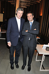 Left to right, brothers ZAC GOLDSMITH and BEN GOLDSMITH at the Pig Business Fundraiser, Sake No Hana, St.James's, London on 26th September 2012.
