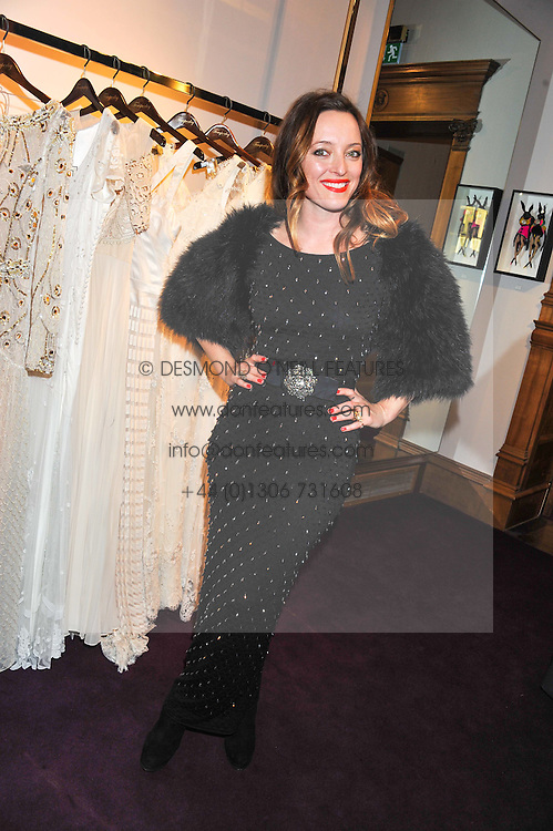 ALICE TEMPERLEY at a party to celebrate thelaunch of Alice Temperley's flagship store Temperley, Bruton Street, London on 6th December 2012.