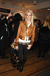 POPPY DELEVINGNE at a party to celebrate the launch of the new Fiat 500 car held at the London Eye, Westminster Bridge Road, London on 21st January 2008.<br /> <br /> NON EXCLUSIVE - WORLD RIGHTS (EMBARGOED FOR PUBLICATION IN UK MAGAZINES UNTIL 1 MONTH AFTER CREATE DATE AND TIME) www.donfeatures.com  +44 (0) 7092 235465