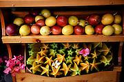 Fruitstand, starfruit, mango, Hana Road, Maui, Hawaii