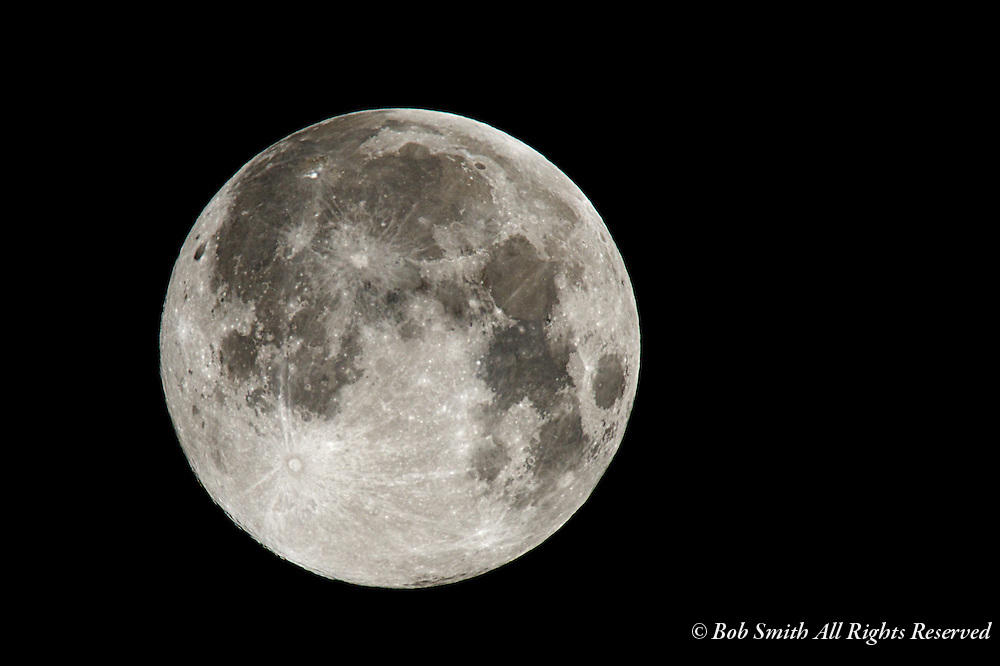 Supermoon on June 23, 2013 as the moon made a closer than normal approach in its orbit around earth