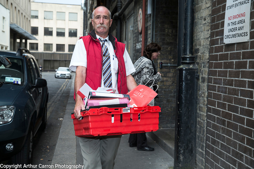 12/6/15 Staff leaving Clerys on O'Connell street after being told their jobs were gone after the company was sold to a new owner. Pictured: Martin O'Sullivan, who ran the carpet and rugs department Picture: Arthur Carron