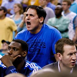 November 17, 2010; New Orleans, LA, USA; Dallas Mavericks owner Mark Cuban reacts during a game against the New Orleans Hornets at the New Orleans Arena. The Hornets defeated the Mavericks 99-97. Mandatory Credit: Derick E. Hingle