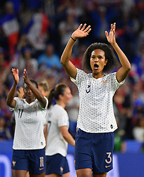 France's Wendie Renard celebrates during FIFA Women's World Cup France group A match France v Brazil on June 23, 2019 in Le Havre, France. France won 2-1 after extra time reaching quarter-finals. Photo by Christian Liewig/ABACAPRESS.COM