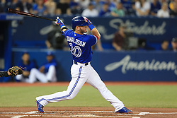 August 12, 2017 - Toronto, ONT, Canada - TORONTO, ON -August 12. Toronto Blue Jays Josh Donaldson swings for the fences against the Pittsburgh Pirates in the first inning. (Rene Johnston/Toronto Star) Rene Johnston Toronto Star/Toronto Star (Credit Image: © Rene Johnston Toronto Star/The Toronto Star via ZUMA Wire)