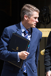 London, July 4th 2017. Chief Whip (Parliamentary Secretary to the Treasury) Gavin Williamson leaves the weekly cabinet meeting at 10 Downing Street in London.