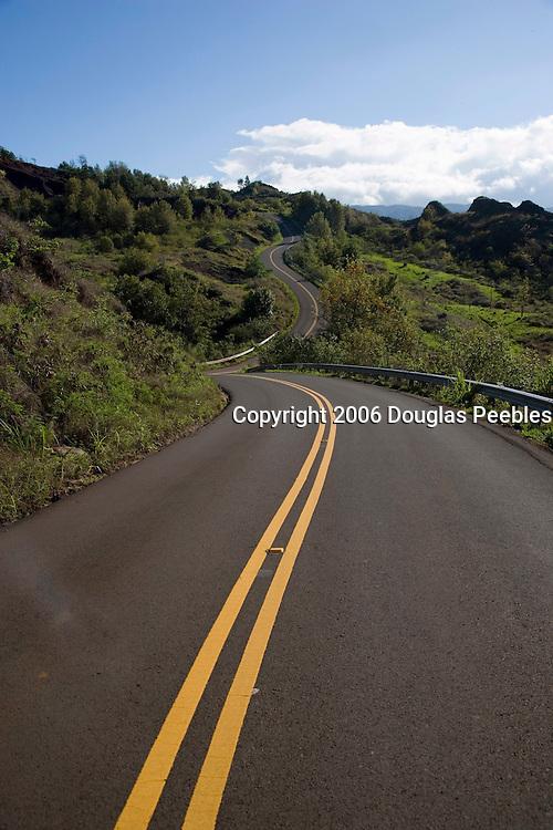 Curved road, Waimea Canyon, Kauai, Hawaii