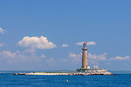 Little Gull Island Light, off Fisher's Island, New York in Long Island Sound