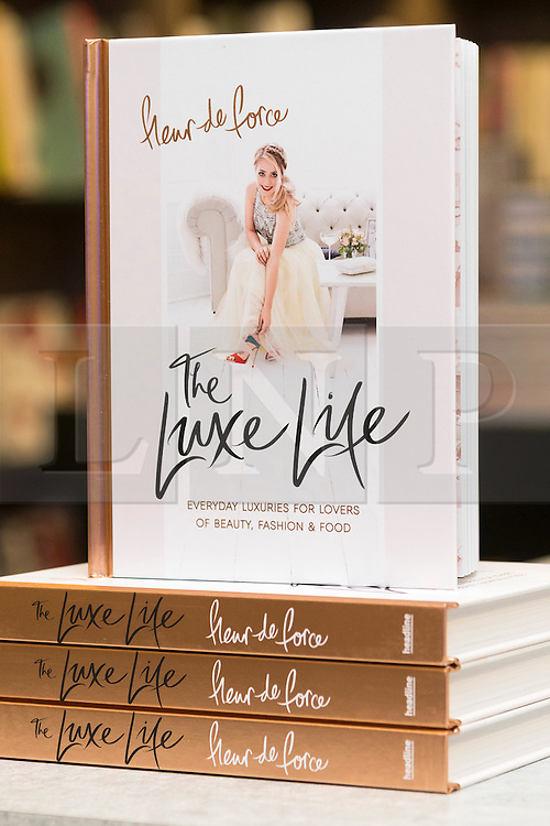 © Licensed to London News Pictures. 25/07/2016. Book by international lifestyle blogging sensation Vlogger FLEUR DE FORCE titled ' The Luxe Life at Selfridges store.  London, UK. Photo credit: Ray Tang/LNP