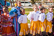 14 JANUARY 2012 - CHANDLER, AZ:    Members of Ballet Folklorico Quetzalli wait to perform at the Multicultural Festival after the naturalization ceremony in Chandler, AZ, Jan. 14. More than 140 people from 21 countries were naturalized as United States citizens Saturday in Chandler. This is the third year Chandler has sponsored a naturalization ceremony in connection with the Dr. Martin Luther King holiday. PHOTO BY JACK KURTZ
