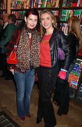 Left to right, NATHALIE HAMBRO and PAULA WHITE at a party to celebrate the publicarion of The Meaning of Tingo by Adam Jacot de Boinod held at the Daunt Bookshop, 83 Marylebone High Street, London on 18th October 2005.<br />