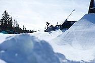 Kaya Turski during Women's Ski Slope Practice at 2014 X Games Aspen at Buttermilk Mountain in Aspen, CO. ©Brett Wilhelm/ESPN