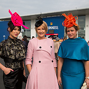 09.10.2016           <br /> Attend the Keanes Jewellers Best dressed competition at Limerick Racecourse were, Anna Maguire (wearing Ana Mac), Gemma McDonagh and Edwina Maguuire(wearing Ana Mac). Picture: Alan Place