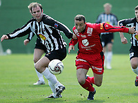 Fotball<br /> La Manga 2006<br /> 20.02.2006<br /> Brann v KR Reykjavik<br /> Foto: Morten Olsen, Digitalsport<br /> <br /> Migen Memelli - Brann